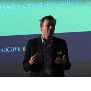 Majandusanalüütik Kristjan Lepik rääkis Logistikalahenduste Aastakonverentsil logistika innovaatlilisest tulevikust.